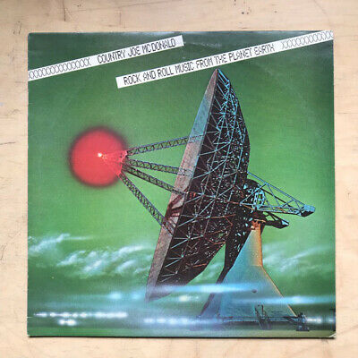 Country Joe Mcdonald  Rock N Roll Music From Planet Earth Lp 1978 - Clean Record • 12£