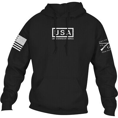 Grunt Style USA Pullover Hoodie - Black • 28.83£