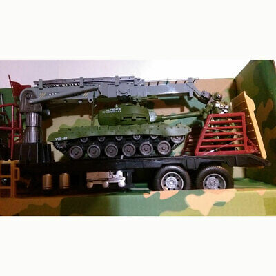 $32.15 • Buy Military Tank-Carrier Semi-Trailer Toy Set Army Men Action Figures + Accessories