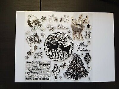 Docrafts Christmas Clear Stamps  • 1.99£
