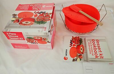 New In Box FAGOR Pressure Cooker 9 PIECE SILICONE DESSERT KIT Set Bakeware • 16.22£