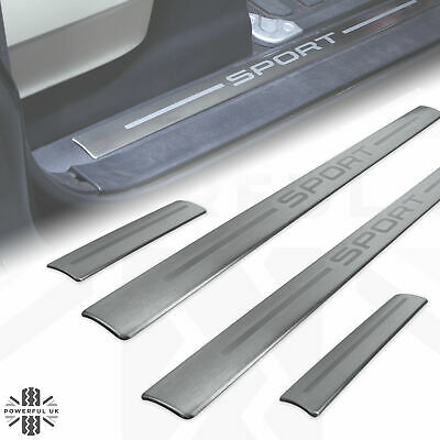 £35 • Buy Door Step Tread Plate Sill Insert 'SPORT' For Range Rover L320 Brushed Metal