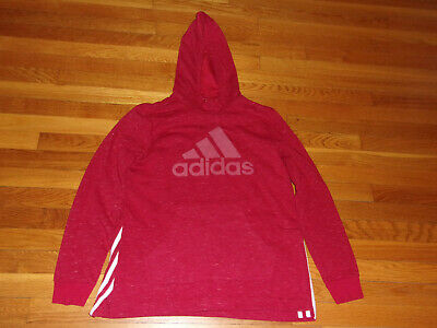 $ CDN11.11 • Buy Adidas Long Sleeve Red Hoodie Mens Medium Excellent Condition