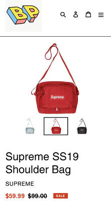 $ CDN78.55 • Buy Supreme SS19 Red Shoulder Bag New With Tags Shipped Next Same Day 100% Authentic