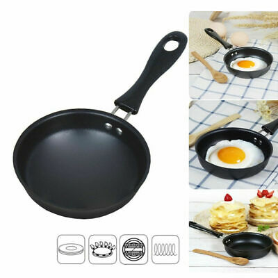 Non-stick Frying Pan Pancake Small Fryer Round Mini Saucepan Kitchen Cookware • 7.99£