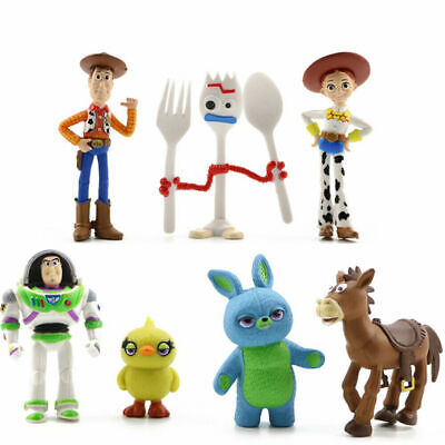 7Pcs Toy Story Woody Bulleye Buzz Lightyear Action Figure Kids Toys Cake Topper • 6.79£