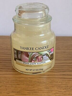 Yankee Candle Small Jar Pink Lady Slippers. Vhtf Rare Christmas Gift • 4£