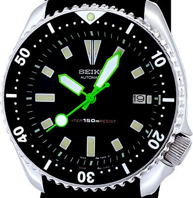 $ CDN124.40 • Buy Vintage Watch SEIKO Diver 7002 Mod W/all Neon Green Plongeur & Lollipop SS Hands