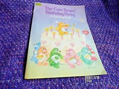 Vintage Care Bears The Care Bears Birthday Party Colouring Book From Pizza Hut  • 3.50£