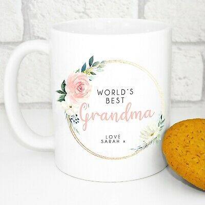 Personalised World's Best Grandma Mug - Grandma Gift • 9.99£