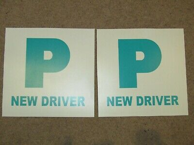 Simply New Driver P Plates Fully Magnetic (Pack Of 2) (TL1100) • 1£