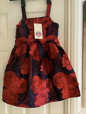 Beautiful Girls Dress Size 5/6 Years Yumi Girl Lined Net Underskirt New With Tag • 4.99£