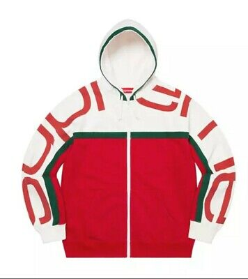 $ CDN458.18 • Buy Supreme Big Logo Paneled Zip Up Hoodie Sz Large Sold Out *Comfirmed Order*