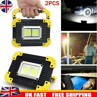2X USB Rechargeable LED COB Work Light Outdoor Camping Floodlight Emergency Lamp • 10.86£