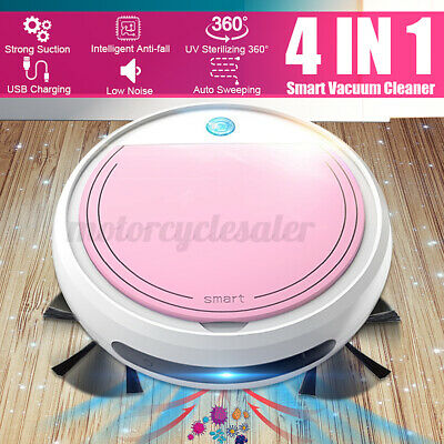 4 IN 1 Smart Vacuum Cleaner Robot With UV Disinfection Sweeping Mopping Cleaning • 26.99£