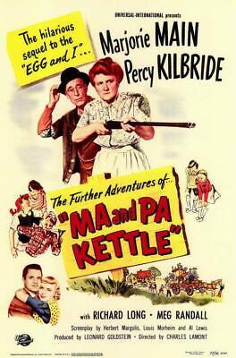 $9.98 • Buy Ma And Pa Kettle Movie POSTER 11 X 17 Marjorie Main, Percy Kilbride, A