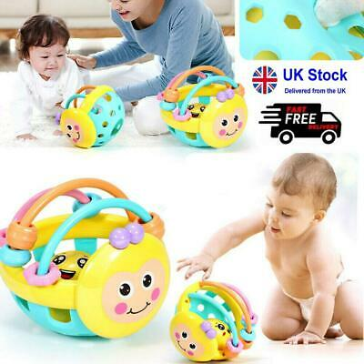 Cartoon Bee Ball Baby Rattle Toys Rattles Kids Soft Toddler Educational Toy • 6.90£