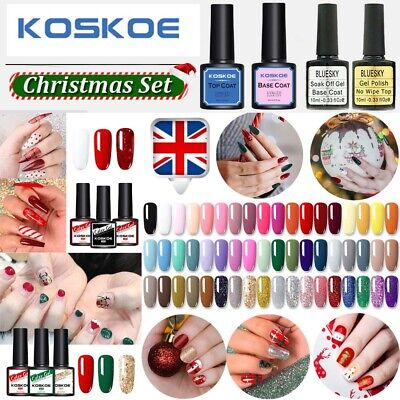 KOSKOE Christmas Design Nail UV Gel Polish Glitter Soak Off Varnish Red Green UK • 4.99£