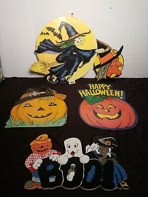 $ CDN25.31 • Buy Antique Vintage 1980s  Halloween Wall Hanging Decorations Package Lot