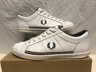 Fred Perry Baseline Leather White Trainer Shoe Size 10 Eu 11 • 14.99£