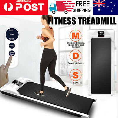 AU299 • Buy Electric Treadmill Walking Pad Home Office Gym Exercise Fitness 1-6KM/h LCD AU