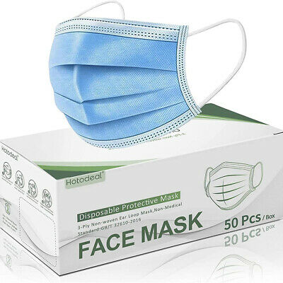 Face Mask Protective Covering Blue Mask Reusable Anti-Virus Anti-Dust Filtration • 3.89£