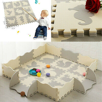 Baby And Children Play Floor Mat SOLID EVA Kids Puzzle Toy Crawling Carpet Gift • 30.98£