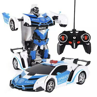 AU35.59 • Buy Toys For Boys Age 3 4 5 6 7 8 9 Year Old Kids Police Car Transformer 2 In1 Robot