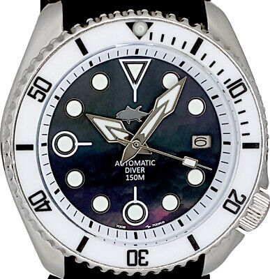 $ CDN54.33 • Buy Vintage Watch SEIKO Diver 7002 Mod W/ Spear  Set On Black Mother Of Pearl Dial