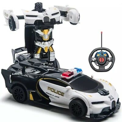 AU38.12 • Buy Toys For Boys Age 3 4 5 6 7 8 9 Year Old Kids Police Car Transformer 2 In1 Robot