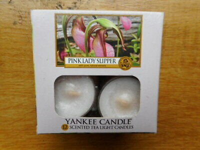 Yankee Candle Rare Retired Htf Pink Lady Slipper Tea Lights 11 In Total Not 12 • 10£