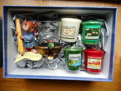 Yankee Candle Rare Night Before Christmas Mouse Santa 4 Samplers Boxed Gift  • 28.99£