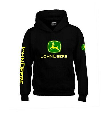 John Deere Hoodie KIDS AND ADULT SIZES Tractor Enthusiast Farming  • 24.99£