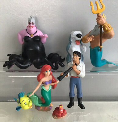 Authentic Disney The Little Mermaid Toy Figures • 12.50£