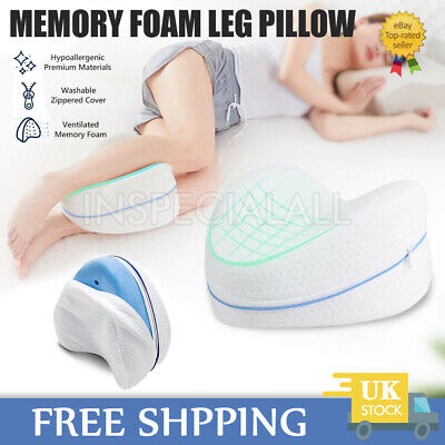 Orthopaedic Memory Foam Leg Pillow Washable Cover Knee Back Hips Contour Support • 12.79£
