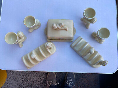 Lurpak Collectables, Egg Cups X4, Butter Dish & X2 Toast Racks • 20£
