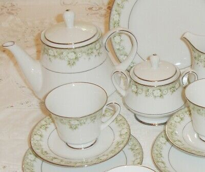 VINTAGE NORITAKE 22 Piece Fine China Tea Set Japan Includes Tea Pot  • 80£