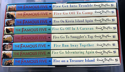 ENID BLYTON CLASSICS THE FAMOUS FIVE 8 EXCITING ADVENTURES BOX SET 9+ Yrs   • 2.50£