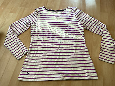 Joules Striped Tunic Top Size 8 Boho Long Sleeved • 2£