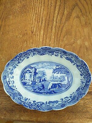 Spode Blue Room Collection Italian Oval Fluted DISH WITH ORIGINAL BOX  • 4.60£