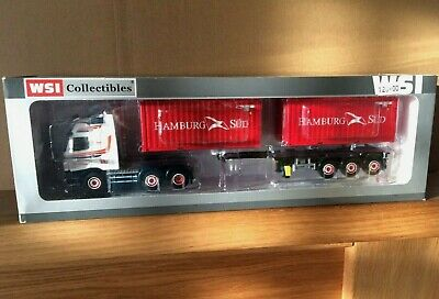 Boxed WSI 1/50Scale LtdEd Volvo FH With Chassis & Two Container Load 'Westerman' • 185£
