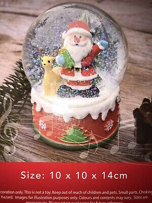 Christmas Decoration Wind Up Musical Snow Globe..brand New In Box. • 7.99£