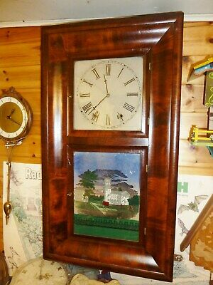 Heavy Victorian American Ogee Wall Clock Jerome Pre 1861 8 Day Restored Working  • 99.99£