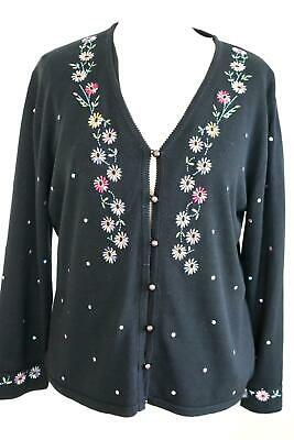 CAROLINE CHARLES Wool Button Front Cardigan Jacket Uk12 BC • 19.99£