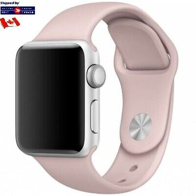 $ CDN3.99 • Buy For Apple Watch Band Replacement Silicone Pink 42/44mm M/L Series 1 2 3 4 5 6