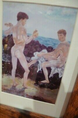 The Bathing Boys Male Nudes Print Of My Original Oil Reproduction Gay Interest • 20£