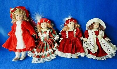 $ CDN26.07 • Buy Vintage  4 Bisque Victorian Doll Ornaments