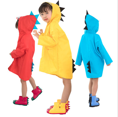 Childrens Puddle / Paddle Dinosaur Rain Suit Waterproof Rainsuit Reusable Kids • 12.34£
