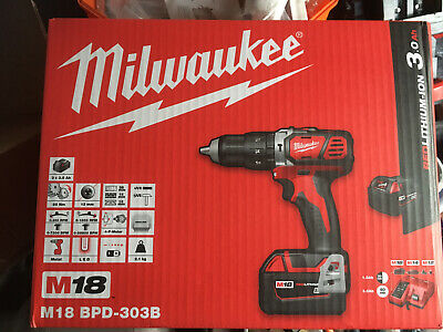 Milwaukee M18 Combi Drill Set . 3x Batteries Charger And Bag • 175£