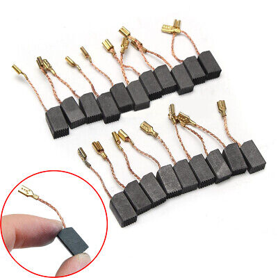 20pcs 6*8*14mm Graphite Copper Motor Carbon Brushes For 100mm Angle Grinder /uk • 4.71£
